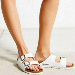 New Birkenstock Arizona White Sandals 36